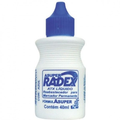 Tinta de Carimbo Azul 40 ml - Radex