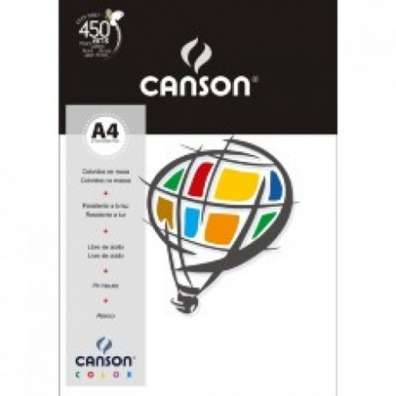 Papel A4 Color Plus Branco 180g/m² com 10 fls - Canson