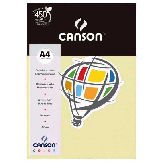 Papel A4 Color Plus Marfim 180g/m² com 10 fls - Canson