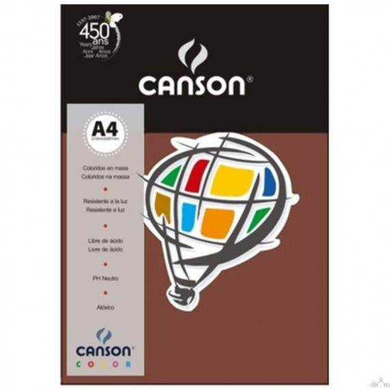 Papel A4 Color Plus Chocolate 180g/m² com 10 fls - Canson